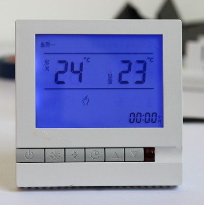 цена на Free Shipping Central Air Conditioning Thermostat LCD Digital Display SML-605 for 4 pipe Fan Coil Unit with Back Light