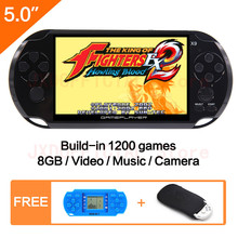 New 8G Handheld Game Console 5.0 inch MP4 Player Video Game Console Retro Games built-in 1200 games for gba/gbc/snes/fc/smd