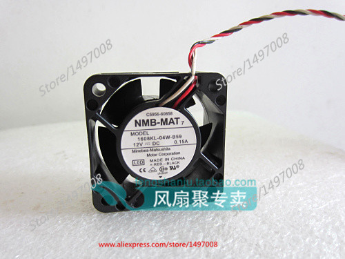 NMB-MAT 1608KL-04W-B59, L0D DC 12V 0.15A, 40x40x20mm    Server Square  fan nmb mat 3110kl 04w b49 b02 b01 dc 12v 0 26a 3 wire server square fan