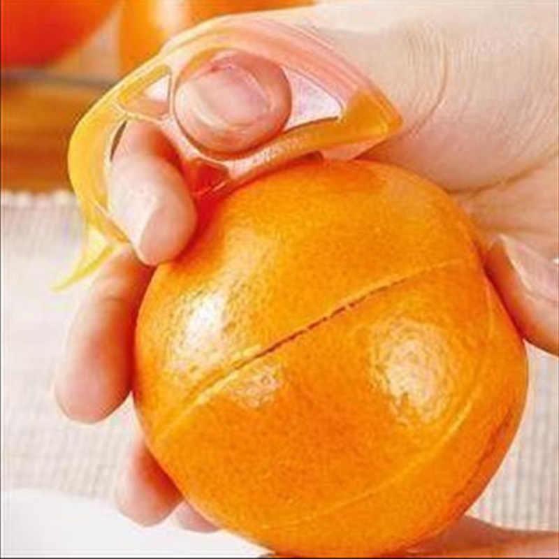 オレンジピーラーレモンスライサースケーラーカッター Zesters フルーツスライサーオープナーカッターオレンジピールスケーラーヘアリムーバーデバイスキッチンツール 1 ピース
