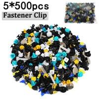 Plastics Black 2500Pcs Mixed Auto Car Fastener Clip Bumper Fender Trim Plastic Rivet Door Panel
