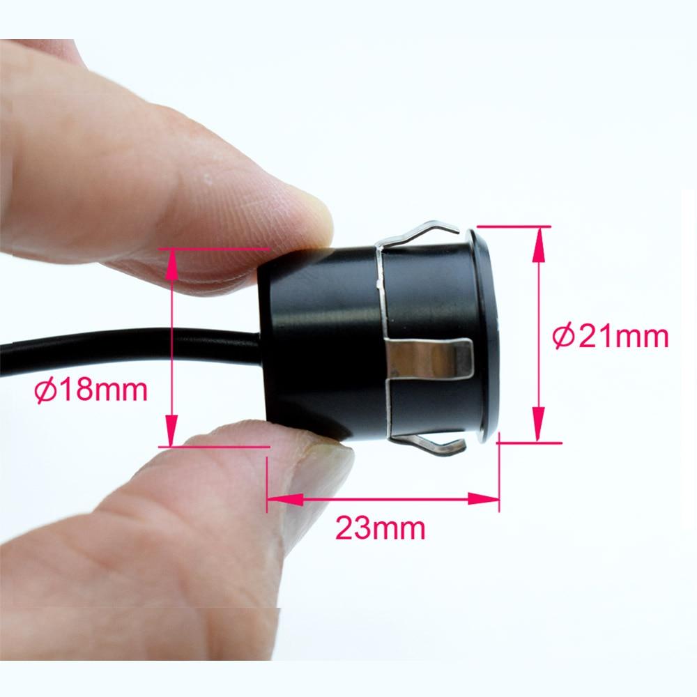 XCGaoon 18.5mm CCD Cámara de visión trasera para automóvil con 8 - Electrónica del Automóvil - foto 4