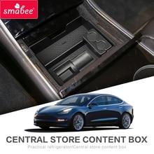 Smabee Auto box bracciolo centrale Per Tesla MODELLO 3 Accessori Interni Stivaggio Riordino Center Console Dell'organizzatore Coin Storag