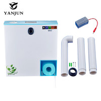 ABS Plastic Induction + Manual 2 in 1 Automatic Sensor Water Tank Double Click Style With Small Roll Holder White YJ 8002