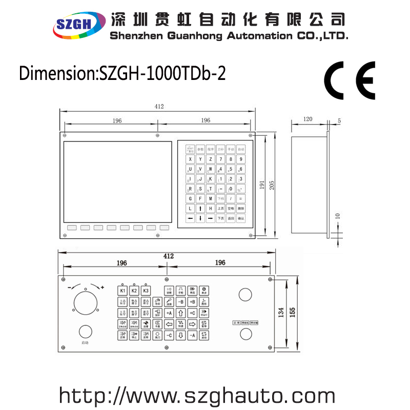 Powerful Szgh Cnc1000tdb 2 Two Axis Cnc Controller For Lathe Machine