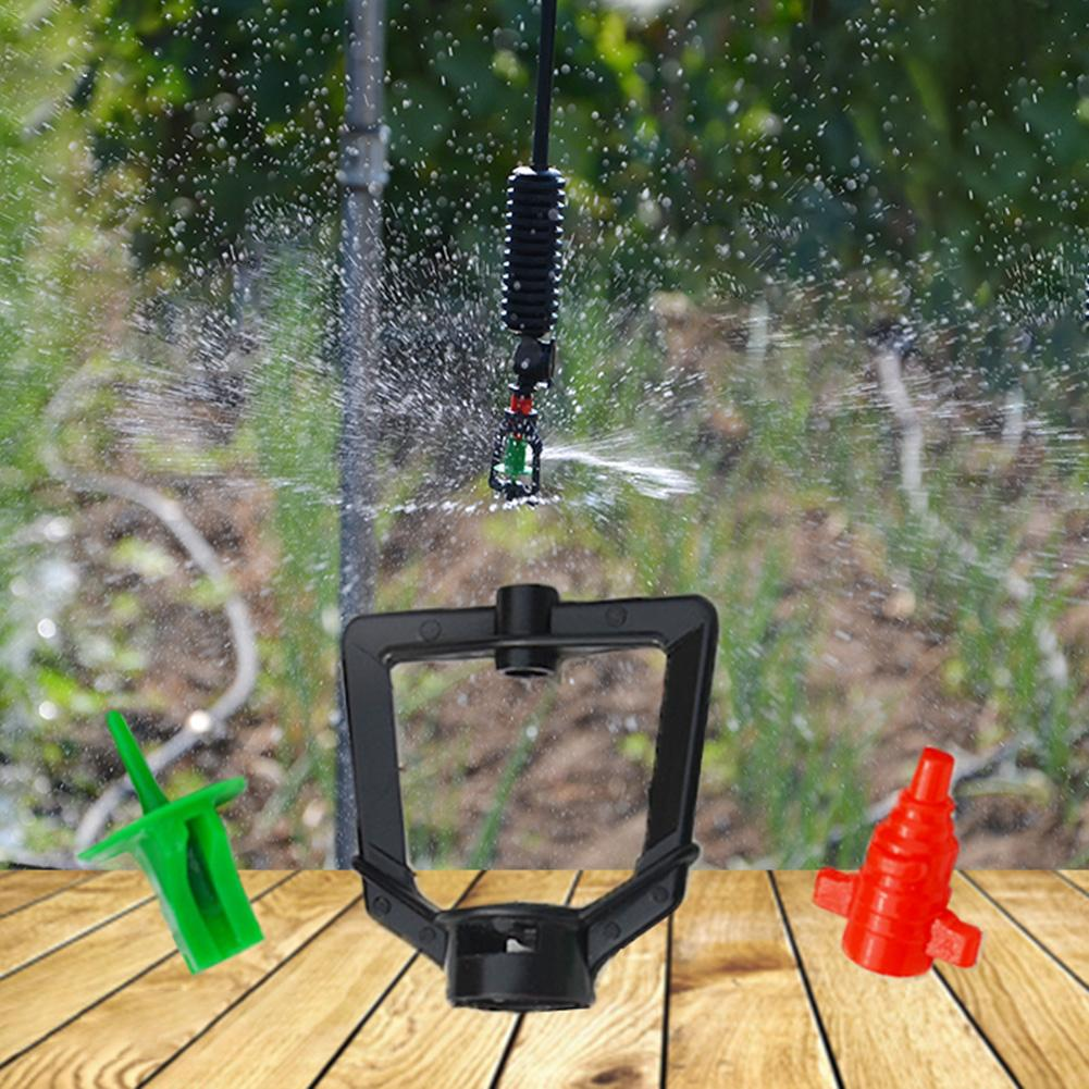 Image 2 - 10PCS 360 Degrees Rotary Micro Nozzle Refraction Micro Spray Irrigation Pipe Adapters Inverted Nozzles Atomizing Parts-in Sprayers from Home & Garden
