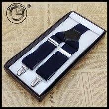 Classic Mens Elastic Clip-on Adjustable Brace Suspenders Check Mens Elastic Clip-on Adjustable Brace Suspenders