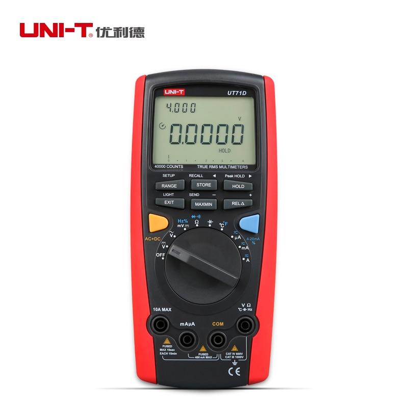 New Uni T Ut71d Intelligent Digital Volt Amp Ohm Capacitance Meter Thermometer free Shipping Atv 250cc free Shipping  цены