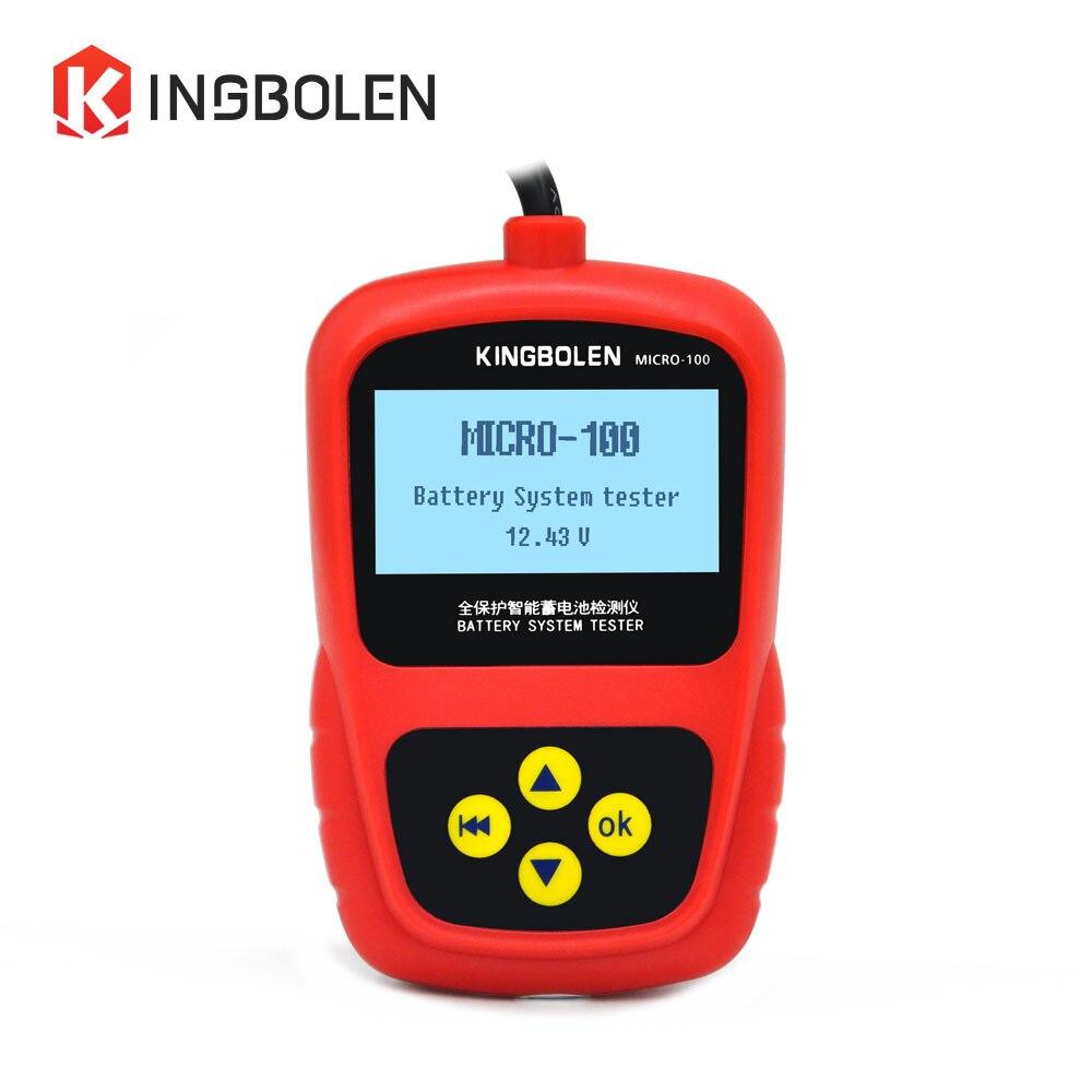 Prix pour Batterie de voiture Testeur MICRO-100 12 V pour Voiture Atelier De Réparation/Amateurs de BRICOLAGE/Testeur De Charge De Batterie MICRO100 BST100 batterie test Micro-100