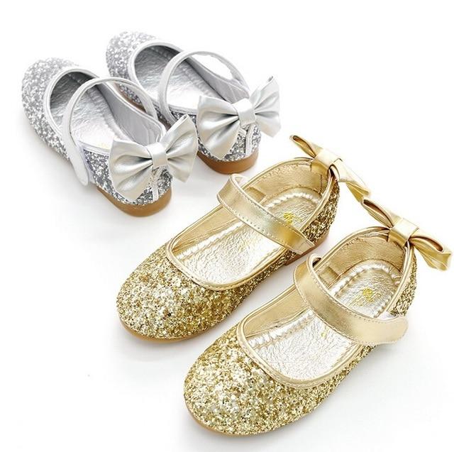 2018 Kids Girls Glitter Princess Sandals Children s Flats Shoes Wedding  Shoes Square Heels Dress Shoes Size 26-34 1e1263d7b6dd