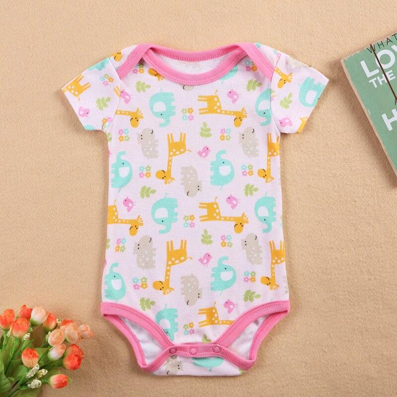 Maloobchodní cena 2017 Novinka Baby Rompers Dívka Baby Romper Krátký rukáv Jeden kus Jumpsuit Baby oblečení pro novorozence
