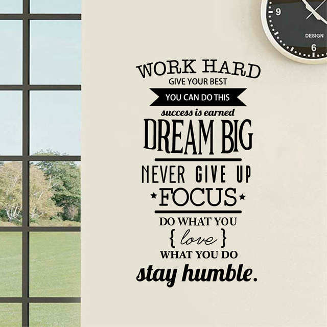 Online Shop Office Motivational Quotes Wall Sticker Never Give Up