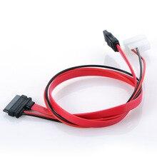 7 + 6 Pin Slimline kabel SATA dla Slim Laptop SATA DVD CD RW napęd kabel zasilający Notebook napęd optyczny linia kablowa P0.11