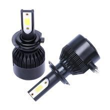 Новая улучшенная C6 16000lm Мини Автомобильный светодиодный фар 9005 9006 H1 H4 H7 H8 H9 H11 чип COB светодиодный налобный фонарь стайлинга автомобилей лампы