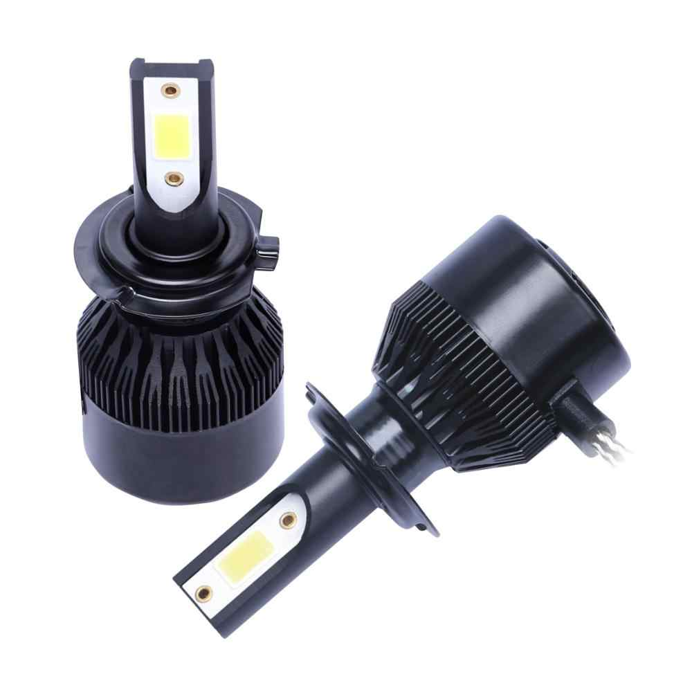 New Enhanced C6 16000lm Mini Car Led Headlight 9005 9006 H1 H4 H7 H8 H9 H11 COB Chip LED Headlamp Car Styling Bulbs