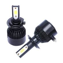 New Enhanced C6 16000lm Mini Car Led Headlight 9005 9006 H1 H4 H7 H8 H9 H11 COB Chip LED Headlamp Car Styling Bulbs(China)