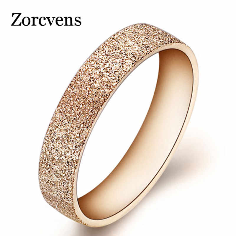 Fashion Jewelry High Quality 316l Stainless Steel Rings Rose