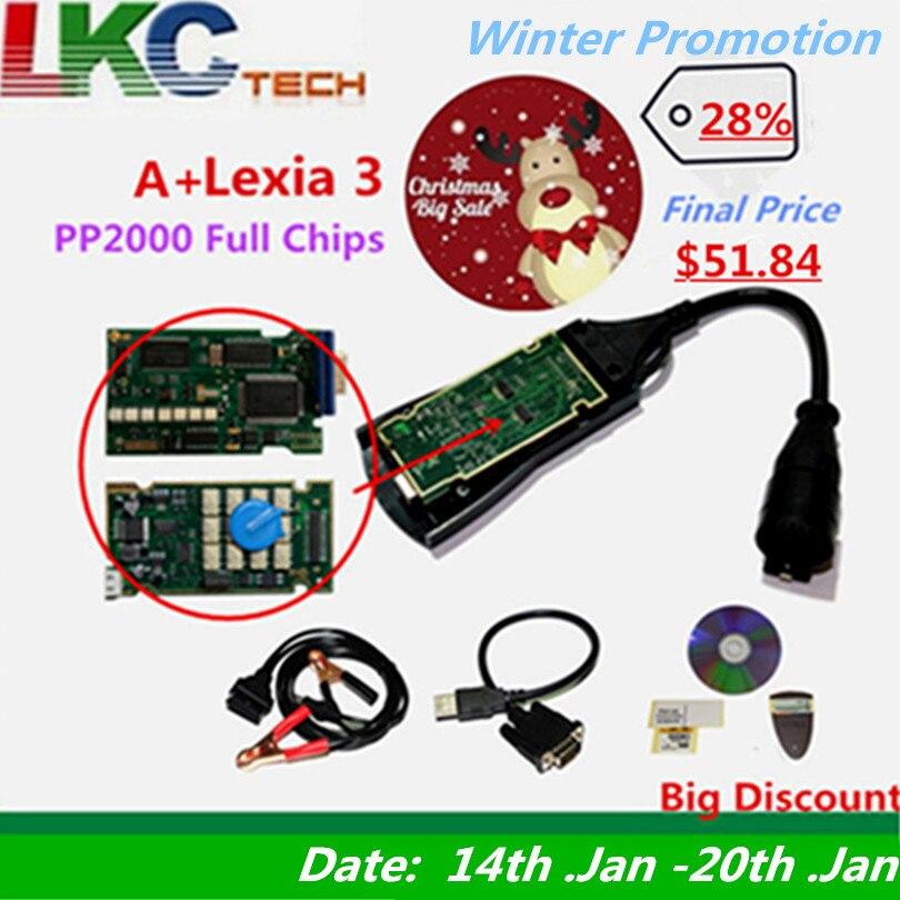 Лучшие Lexia 3 полный чип V48/V25 новые Diagbox V7.83 PP2000 Lexia-3 прошивки 921815C для P-eugeot/с-itroen инструмент диагностики