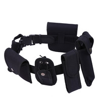 men suit Tactical Police Duty belt Security Belts Tactical Military Train Polices Guard Utility Kit Duty Belt with Pouch Set