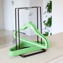 Iron Clothes Hanger Holder Space Saving Companion Rack Adult Children Stand Organizer For Home Laundry