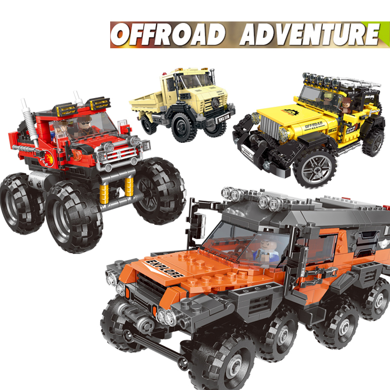 XingBao Super Car Series The Offroad Adventure Set Building Blocks Bricks Educational Toys For children Gifts Model legoINGly