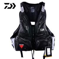 Red Black Outdoor DAIWA Fishing Vest Life Jacket Life Vest Fishing Clothes Fish Tackle Portable Breathable Flotation Vest