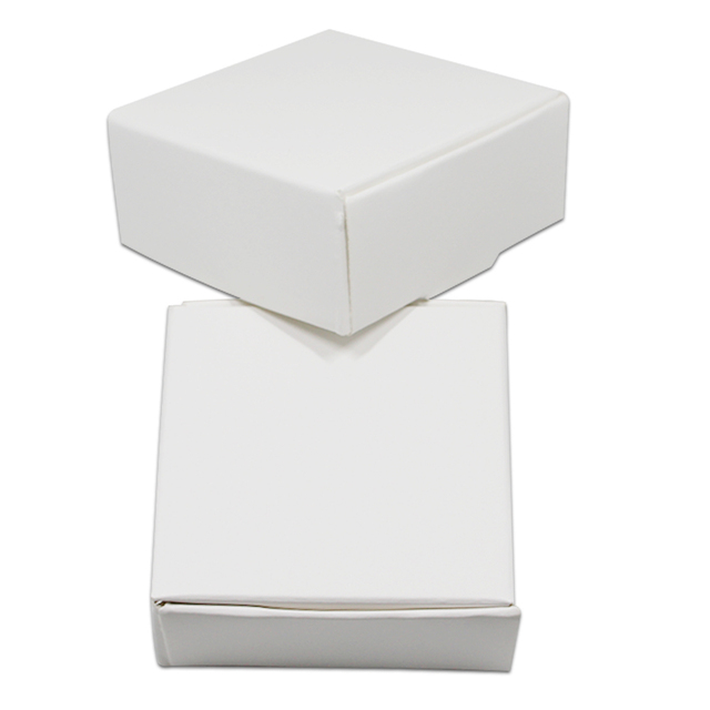 50pcslot Small White Kraft Paper Jewelry Packaging Box Blank