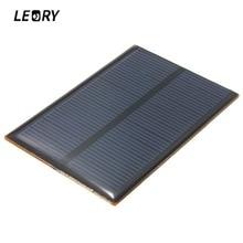 LEORY 5V 1.25W 250mA Monocrystalline Silicon Epoxy Solar Panels Module kits Mini Solar Cells For Charging Cellphone Battery