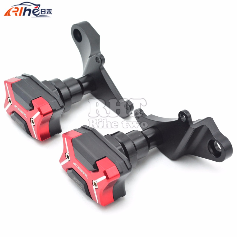 New Red Motorcycle Frame Crash Pads Engine Case Sliders Protector Motorcycle Frame Slider For Honda CBR500R 2013 2014 2015 2016 frame slider motorcycle frame crash pads engine case sliders protector for kawasaki er 6n er6n er 6n 2012 2013 2014 2015 2016