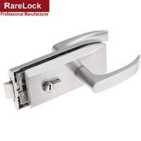Single Opening Metal Glass Door Lock With Keys And Thumb Turn OSS 008