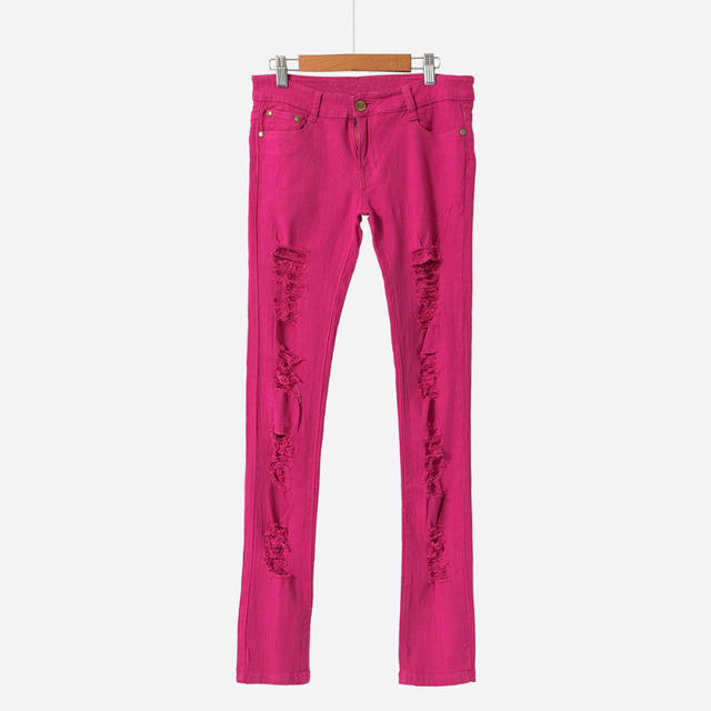 Ripped Candy Pants Pencil Trousers 1