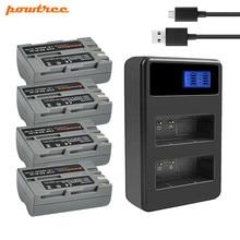 Powtree 2600mAh EN-EL3e EN EL3e EL3a ENEL3e Battery+Battery LCD Dual Charger For Nikon D300S D300 D100 D200 D700 D70S D80 L15 цена и фото