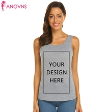 2ddfef3176201 ANGVNS Vests Fashion Persionalized Custom Tanks Top Shirt Custom Logo Photo Text  Printed DIY Sleeveless O