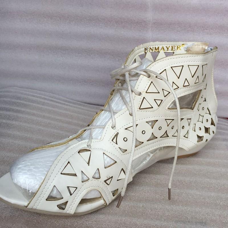 ENMAYER-Big-Size-34-43-Fashion-Cutouts-Lace-Up-Women-Sandals-Open-Toe-Low-Wedges-Bohemian
