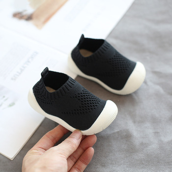 2019 Autumn Infant Toddler Shoes Baby Girls Boys Casual Shoes Soft Bottom Non-slip Comfortable Child Knitted First Walkers Shoes 1
