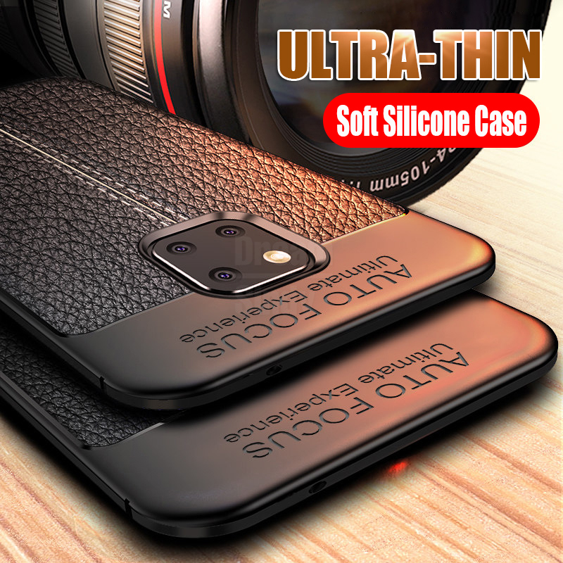 Luxury Leather Soft Case For Huawei Mate 20 10 Lite Tpu Shockproof