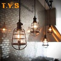 Ferro Abajur Iluminação Industrial Do Vintage Bar Café Restaurante Quarto Estilo País Nórdico Ferro Tampa Da Luz