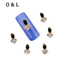 10pcs Flames Design 3d Alloy Nail Art Decoration Glitter Rhinestone Creative DIY Nail Beauty Manicure Tools