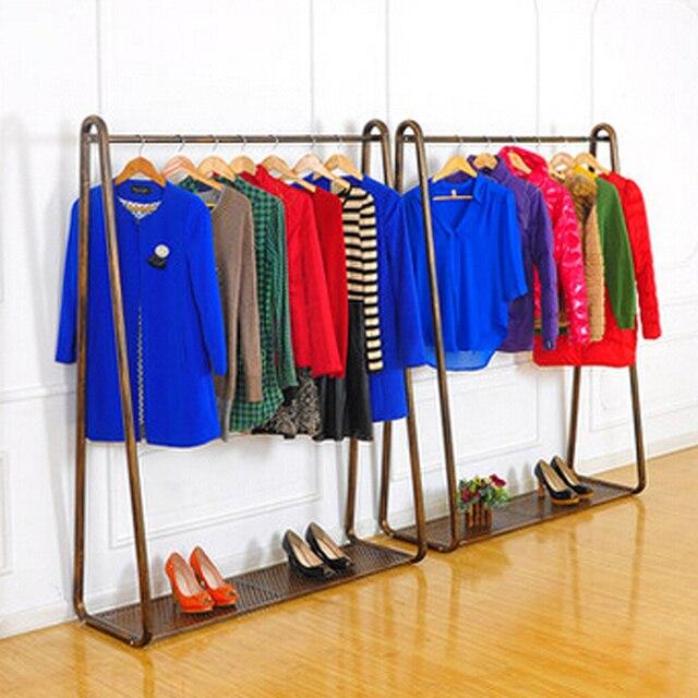 Kleiderständer Schmiedeeisen billige amerikanische kleiderbügel boden display rack schmiedeeisen