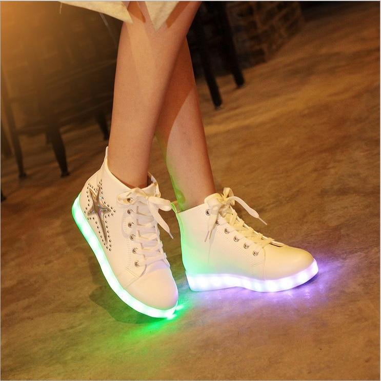 Aliexpress.com : Buy Women led light up shoes color high