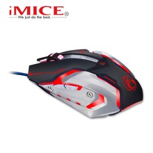 iMice V8 Professional USB Wired game Gaming Mouse Computer Mouse Macro 4000DPI Led Optical 6 Buttons gamer For Laptop notebook