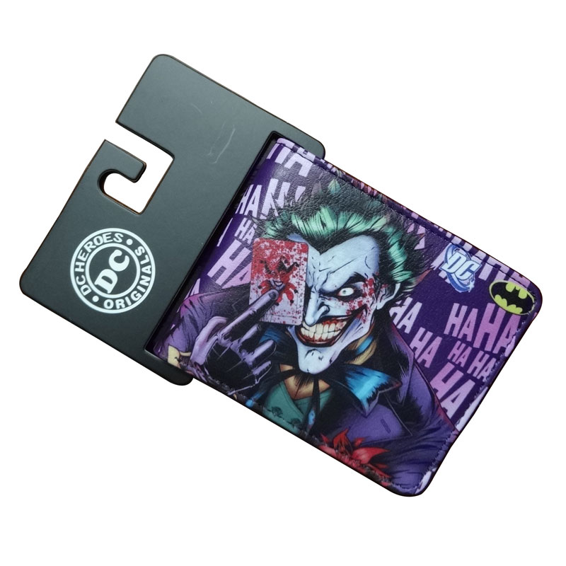 Fashion Animation Joker Wallets Casual Leather Gift Purse No Zipper Dollar Price Money Bags Men Women Standard Short Wallet hot pvc purse games overwatch wallets for teenager creative gift money bags fashion casual men women short wallet page 8