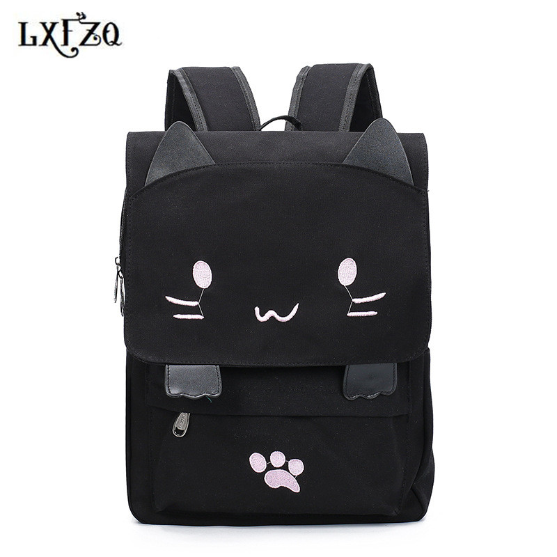 все цены на backpacks for teenage girls lovely mochila feminina canvas backpack Anime Backpack female a bag Satchel rugzak sac a dos bagpack