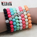 Fashion Women Bracelets Bangles Fluorescent Neon Infinity Cheap 10mm bead strand Bracelet Stretch Charm Jewelry