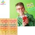 Crianças Brinquedos Criativos Bonito Dos Desenhos Animados Louco Palha DIY Vidros Engraçados Gadgets Novidade & Da Mordaça Brinquedos Otários Presentes Para As Crianças