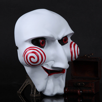High grade Resin Mask Electric Saw Puppet Adam Creepy Scary Moive Halloween Mascara Cosplay Party Masquerade Dress Costume Props