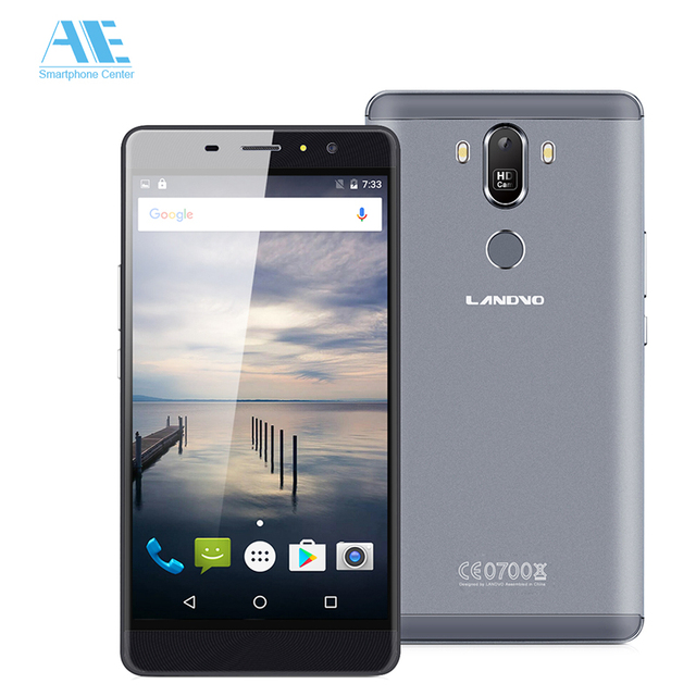 Original Landvo MAX Fingerprint MT6580 Quad Core Android 6.0 Smartphone 6.0 Inch 1G RAM 16G ROM 1280*720 5MP 3300mAh Cellphone