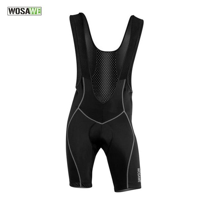 WOSAWE Men's Cycling Bib Shorts Pants Bicycle Bike Vest Shorts Chothes Cycle Wear Clothing 3D Cushion Pad Braces Tights