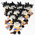 10pcs/lot Anime Cartoon Dragon Ball Z Son Goku Krillin Plush Dolls with Chain Stuffed Soft Toy Kids Gift Pendants AP0036