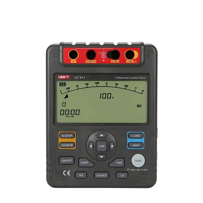 UNI-T UT511 1000 V 10 Gohm Numérique Testeurs de Résistance D'isolement UT511 Voltmètre Gamme Automatique